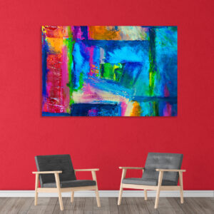Canvas Painting - Modern Abstract Art Wall Painting - Gallery Wrapped Wooden Frame (33 inches X 21 inches
