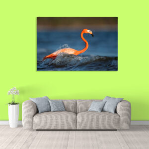 Sehar Crafts Canvas Painting - Modern Birds Art Wall Painting - Gallery Wrapped Wooden Frame (33 inches X 21 inches