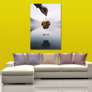 Sehar Crafts Canvas Painting - Modern Nature Art Wall Painting - Gallery Wrapped Wooden Frame (33 inches X 21 inches