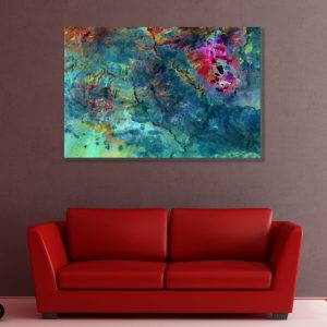 Sehar Crafts Abstract Framed Canvas Painting