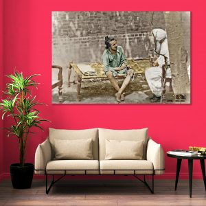 Sehar Crafts Shaheed Sardar Bhagat Singh Canvas Painting With Wooden Frame for Living Room