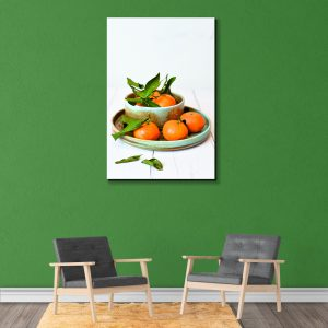 Sehar Crafts Orange Canvas Painting With Wooden Frame for Living Room