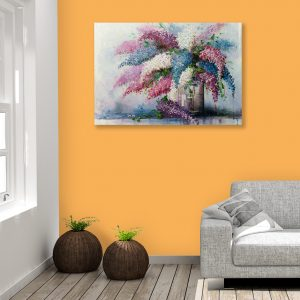 Sehar Crafts Abstract Canvas Painting, Multicolour, Modern, Wooden Frame for Living Room, Bedroom, Office, Hotels, (33 inches X 21 inches SeharC210174 )