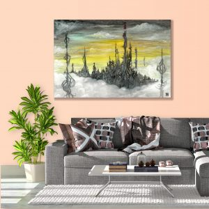 Sehar Crafts Abstract Canvas Painting, Modern, Wooden Frame for Living Room, Bedroom, Office, Hotels, (33 inches X 21 inches SeharC210178 )