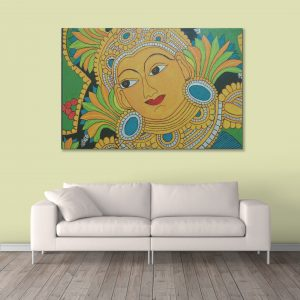 Sehar Craft Shri Krishna Canvas Painting, Multicolour, Modern,With Wooden Frame for Living Room, Bedroom, Office, Hotels, (33 inches X 21 inches, SeharC210183)