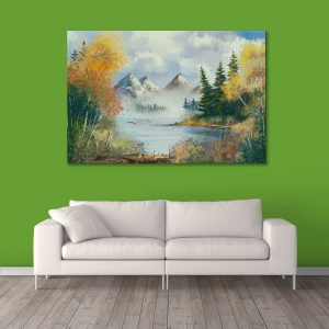 Sehar Crafts Nature view Canvas Painting, Multicolour, Modern,With Wooden Frame for Living Room, Bedroom, Office, Hotels, (33 inches X 21 inches, SeharC210184)