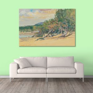 Sehar Crafts Trees Nature Canvas Painting, Multicolour, Modern,With Wooden Frame for Living Room, Bedroom, Office, Hotels, (33 inches X 21 inches, SeharC210189)