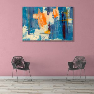 Sehar Crafts Abstract Canvas Painting, Multicolour, Wooden Framed for Living Room, Bedroom, Office, Hotels (33 inches X 21 inches SeharC210197)