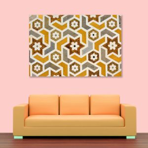 Sehar Crafts Abstract Canvas Painting, Multicolour, Wooden Framed for Living Room, Bedroom, Office, Hotels (33 inches X 21 inches SeharC210199)